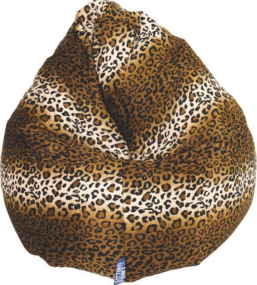 SITZSACK Animalprint Braun - Braun, Design, Textil (80/130cm) - Carryhome