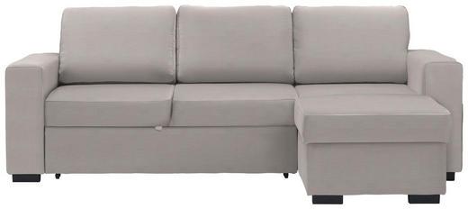 WOHNLANDSCHAFT in Textil Creme - Creme/Schwarz, Design, Kunststoff/Textil (244/162cm) - Carryhome