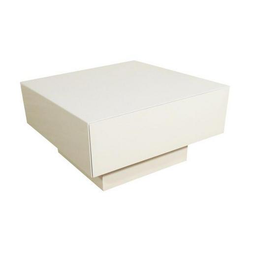 KLUB STOLIĆ - bijela/boje aluminija, Design, drvni materijal (65/65cm)