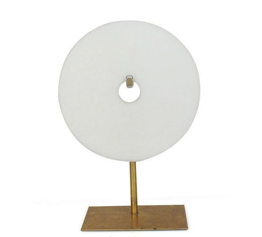 SKULPTUR - Goldfarben/Weiß, LIFESTYLE, Stein/Metall (20/28/10cm) - Ambia Home