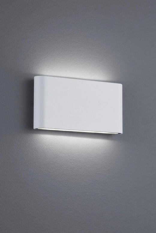 AUßENWANDLEUCHTE Weiß - Weiß, Design, Metall (9/17,5/3,0cm)