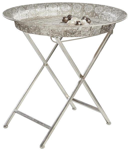 BEISTELLTISCH rund Silberfarben - Silberfarben, Basics, Metall (54/52cm) - Ambia Home