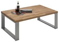 COUCHTISCH in Holz, Metall 110/70/41,5 cm   - Eichefarben/Alufarben, Design, Holz/Metall (110/70/41,5cm) - Hom`in