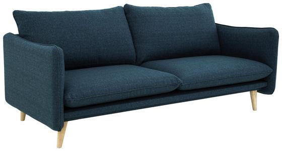 SOFFA - vit/blå, Design, trä/textil (190/77/91cm) - Welnova