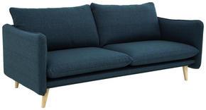 SOFFA - vit/blå, Design, trä/textil (190/77/91cm) - Lerche Home
