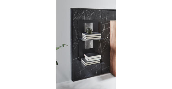 SIDEBOARD 198/109,9/47,2-55,2 cm  - Schieferfarben/Anthrazit, Design, Glas/Holz (198/109,9/47,2-55,2cm) - Dieter Knoll