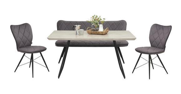 SITZBANK 166/85/66 cm  in Grau, Schwarz - Schwarz/Grau, Design, Textil/Metall (166/85/66cm) - Hom`in