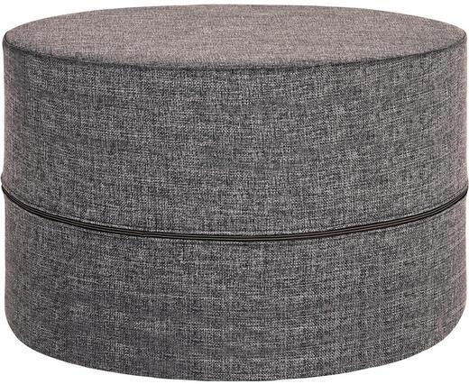 HOCKER Flachgewebe Grau - Grau, Design, Textil (62/40cm) - Innovation
