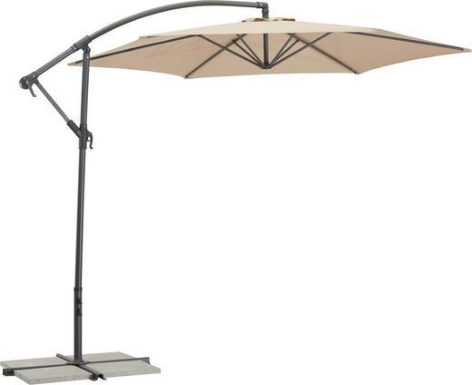 SENČNIK - sivo rjava/antracit, Design, kovina/tekstil (300/235cm) - Ambia Garden