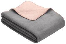 WOHNDECKE 150/200 cm Grau, Rosa  - Rosa/Grau, Design, Textil (150/200cm) - Novel