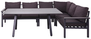 LOUNGEGRUPP - grå/antracit, Design, metall/textil (259/199cm) - Amatio