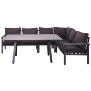 LOUNGE GARNITURA - siva/antracit, Design, metal/tekstil (259/199cm) - Amatio