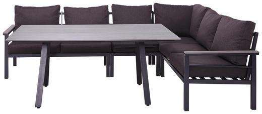 LOUNGEGARNITUR Webstoff Polystyrol Aluminium - Anthrazit/Grau, Design, Kunststoff/Textil (259/199cm) - Amatio