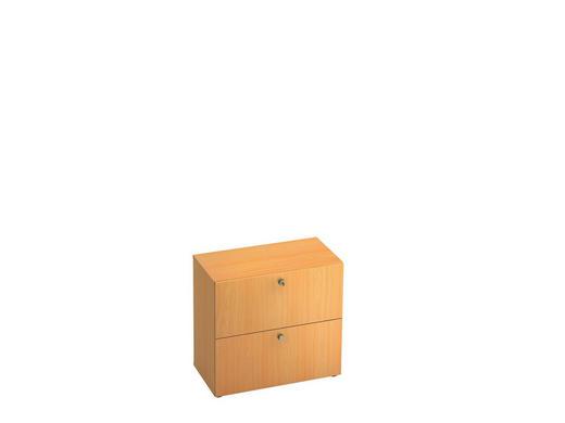 HÄNGEREGISTERELEMENT - Buchefarben/Alufarben, KONVENTIONELL, Holzwerkstoff/Kunststoff (80/74,8/42cm)