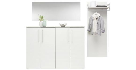 GARDEROBENPANEEL 60/175/30 cm - Weiß, Design, Holzwerkstoff (60/175/30cm) - Voleo
