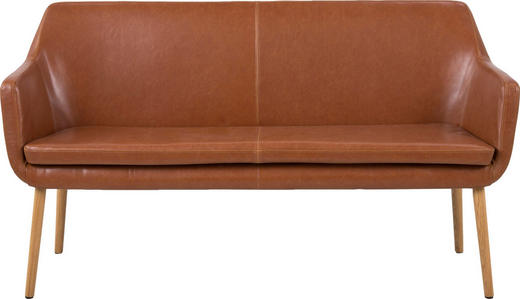 SOFA Braun - Eichefarben/Braun, Design, Holz/Textil (159/86/56cm) - Carryhome