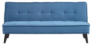 SCHLAFSOFA in Holz, Textil Blau, Schwarz, Petrol  - Blau/Petrol, Design, Holz/Textil (181/91/82cm) - Carryhome