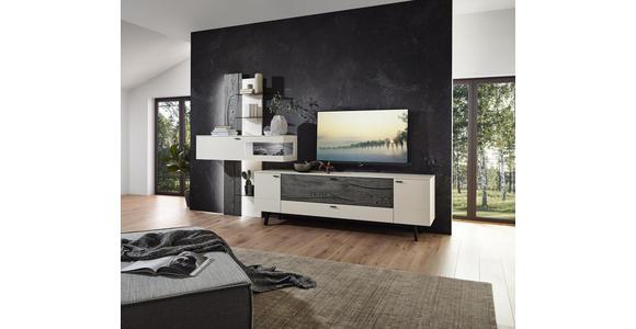 WOHNWAND in Grau, Weiß, Eichefarben  - Eichefarben/Anthrazit, Design, Glas/Holz (333,1/223,2/49,2cm) - Dieter Knoll