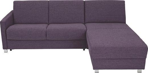 WOHNLANDSCHAFT - Chromfarben/Violett, KONVENTIONELL, Textil/Metall (236/84/100 (183)cm)