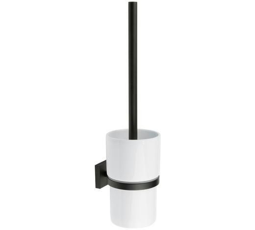 WC-BÜRSTENGARNITUR in Metall  - Schwarz/Weiß, Basics, Keramik/Kunststoff (11,9/38/11,9cm)