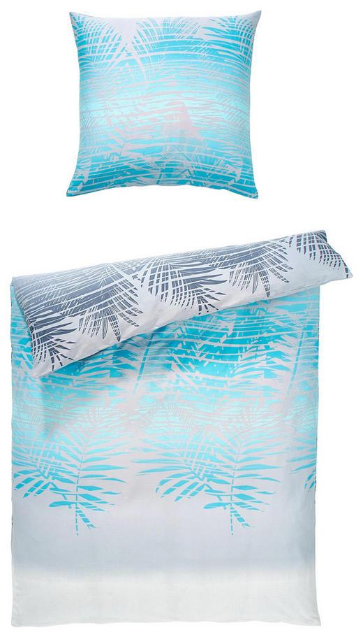 BETTWÄSCHE Satin Blau 135/200 cm - Blau, KONVENTIONELL, Textil (135/200cm) - NOVEL