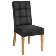 STUHL Webstoff Anthrazit  - Eichefarben/Anthrazit, Design, Holz/Textil (48/95/61cm) - Carryhome