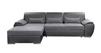 SEDEŽNA GARNITURA,  antracit, črna tekstil  - črna/krom, Design, kovina/tekstil (173/277cm) - Xora