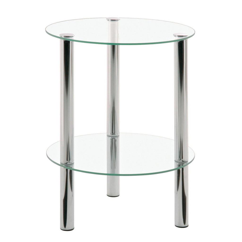 Carryhome BEISTELLTISCH rund Silber   Wohnzimmer > Tische > Beistelltische   Silber   Glas   Carryhome