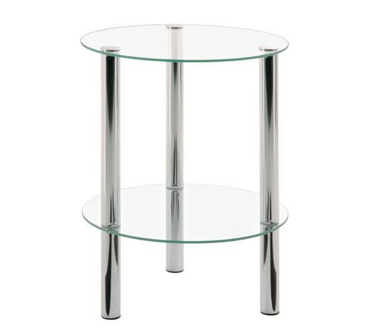 BEISTELLTISCH rund Chromfarben  - Chromfarben, Design, Glas/Metall (35/46,9/35cm) - Carryhome