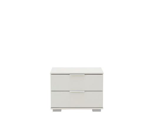 NACHTKÄSTCHEN in Weiß  - Chromfarben/Alufarben, Design, Holzwerkstoff/Kunststoff (52/40/38cm) - Carryhome
