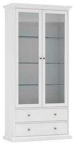 VITRINSKÅP - mässingfärg, Design, metall/glas (96,2/200,8/46,1cm) - Hom`in