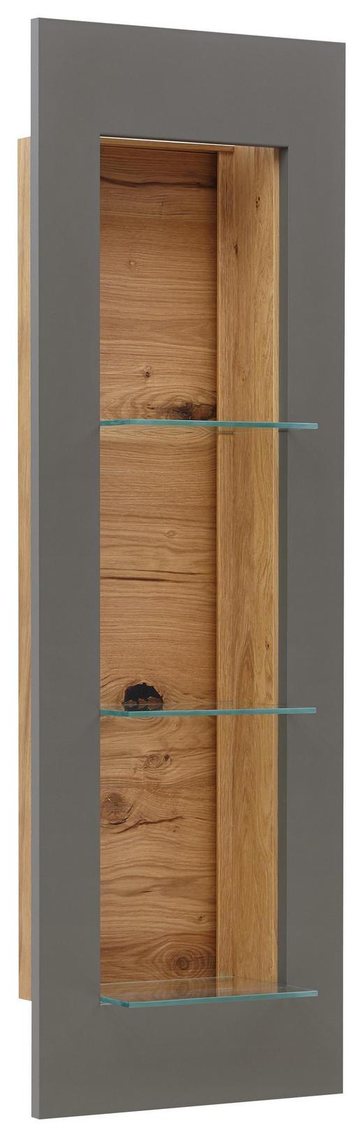 HÄNGEELEMENT in Eichefarben, Walnussfarben - Eichefarben/Walnussfarben, KONVENTIONELL, Glas/Holz (39/118/38cm) - Voleo