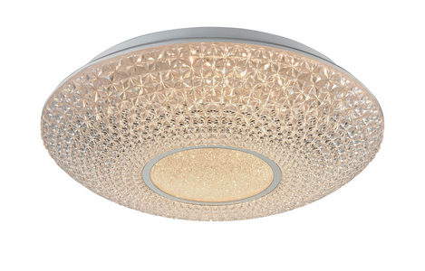 LED PLAFONJERA - Prozirna, Dizajnerski, Plastika/Metal (40/12cm) - Novel