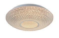 LED-DECKENLEUCHTE - Klar, Design, Kunststoff/Metall (40/12cm) - Novel