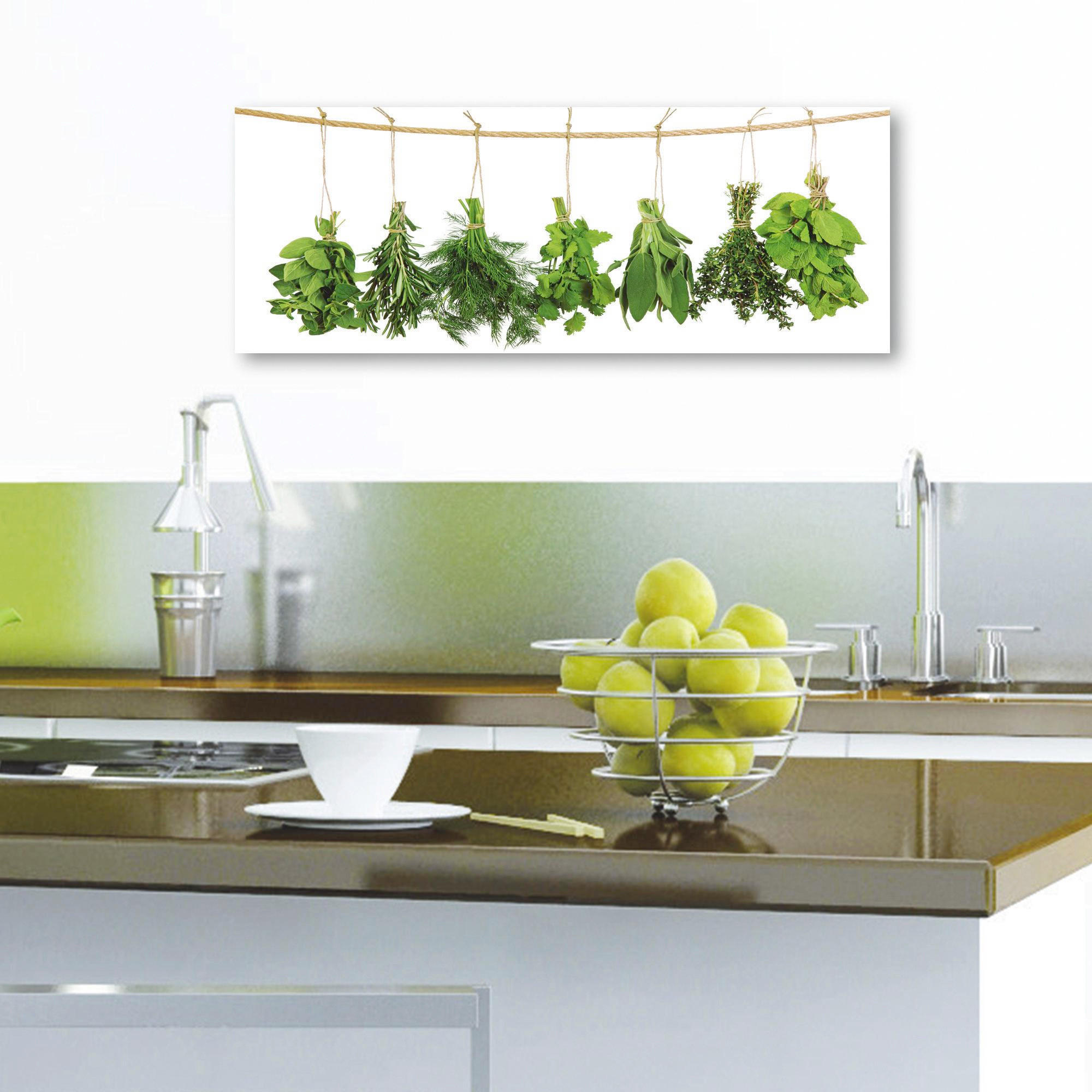 Essen & Trinken, Gewürze GLASBILD - Multicolor, Basics, Glas (30/80cm) - EUROGRAPHICS