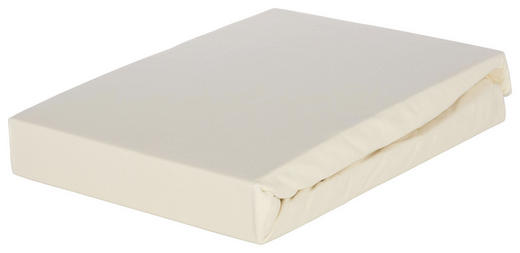 BOXSPRING-SPANNBETTTUCH - Weiß, Basics, Textil (90/220cm) - Novel