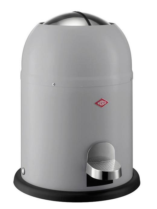 ABFALLSAMMLER SINGLE MASTER 9 L - Schwarz/Grau, Kunststoff/Metall (30/40cm)
