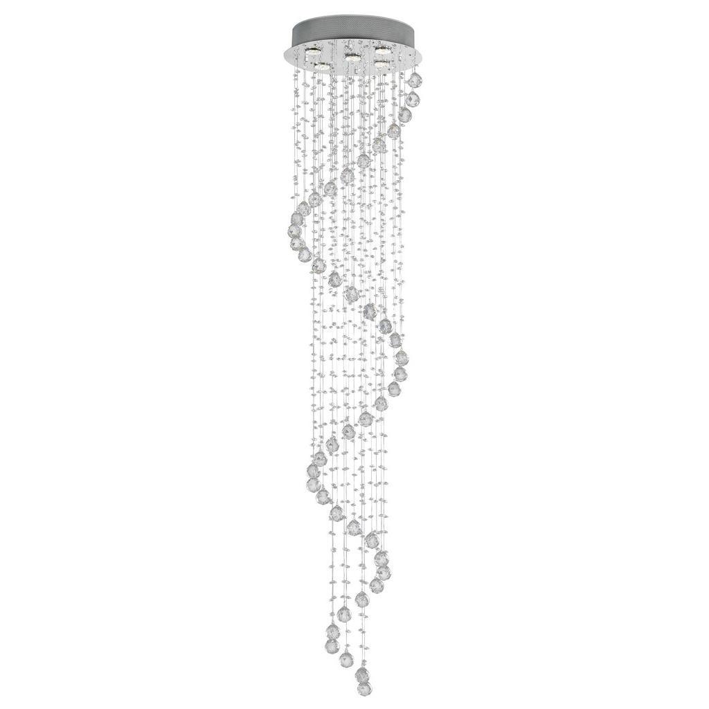 Glandor Deckenleuchte mit spiralförmigem Glasbehang