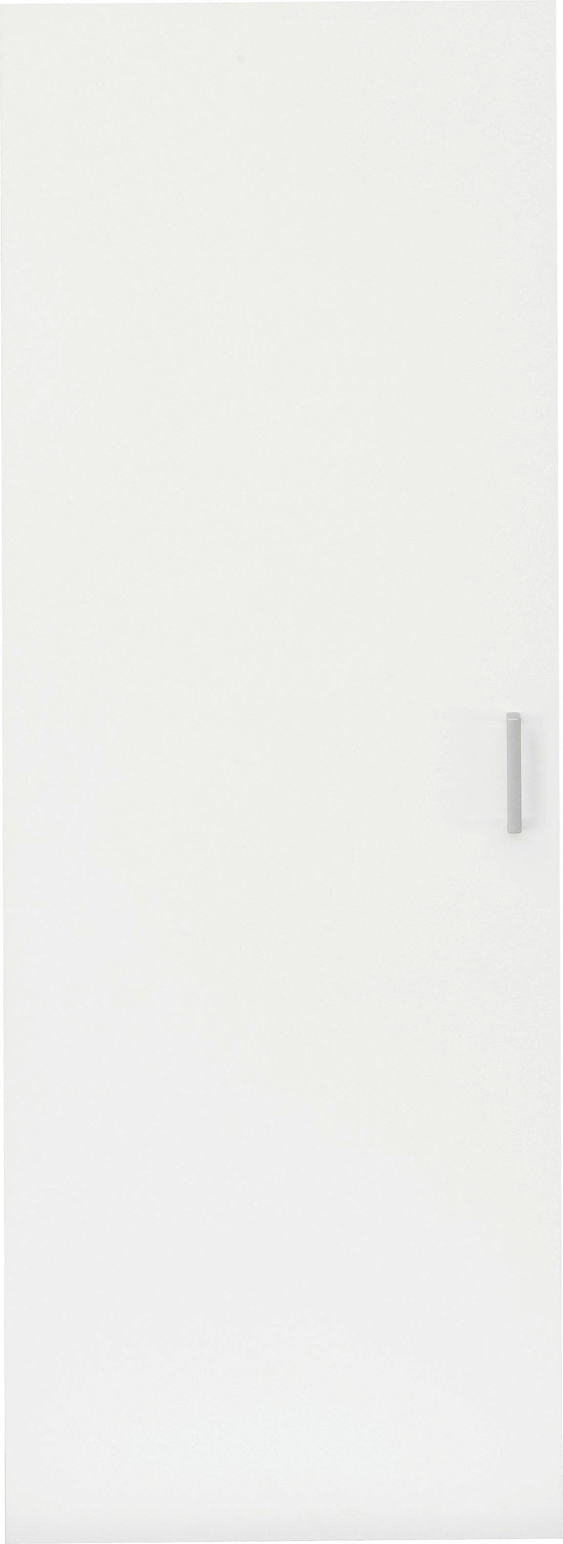 TÜR - Silberfarben/Weiß, KONVENTIONELL, Holzwerkstoff/Kunststoff (51/138/1,5cm) - CS SCHMAL