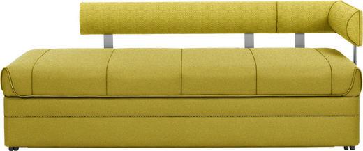 LIEGE in Textil Grün - Dunkelbraun/Grün, Design, Holz/Textil (203/78/95cm) - Joka