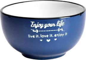 MÜSLISKÅL - vit/blå, Lifestyle, keramik (13,5cm) - Landscape