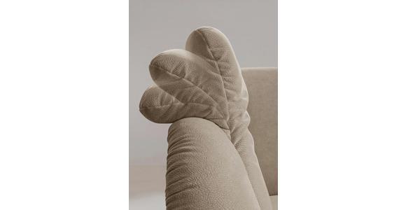 WOHNLANDSCHAFT Sandfarben beflockt  - Sandfarben/Schwarz, KONVENTIONELL, Kunststoff/Textil (225/180cm) - Cantus