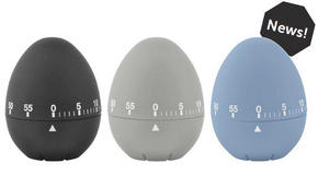 ÄGGKLOCKA - ljusblå/ljusgrå, Basics, plast (8cm)