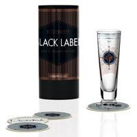 SCHNAPSGLAS 40 ml - Platinfarben/Blau, Trend, Glas (6/6/14cm) - Ritzenhoff