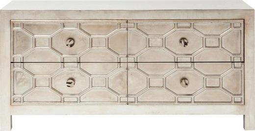 SIDEBOARD lackiert Silberfarben - Silberfarben, Design, Metall (124/61/38cm) - Kare-Design