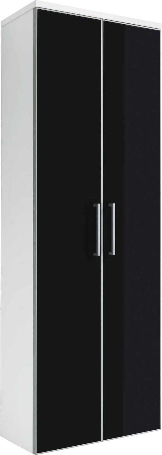 GARDEROBENSCHRANK 61/170/31 cm - Chromfarben/Anthrazit, Design, Glas/Holzwerkstoff (61/170/31cm) - Novel