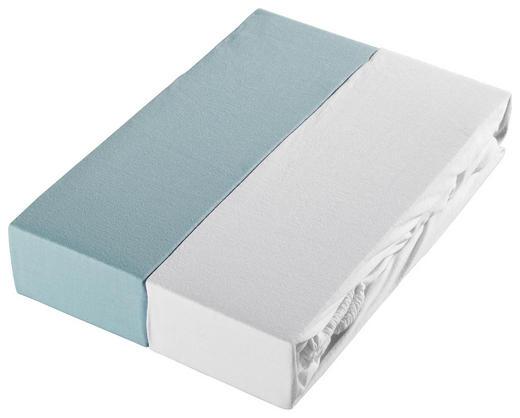 KINDERSPANNLEINTUCH - Weiß/Hellblau, Basics, Textil (70/140/cm) - My Baby Lou