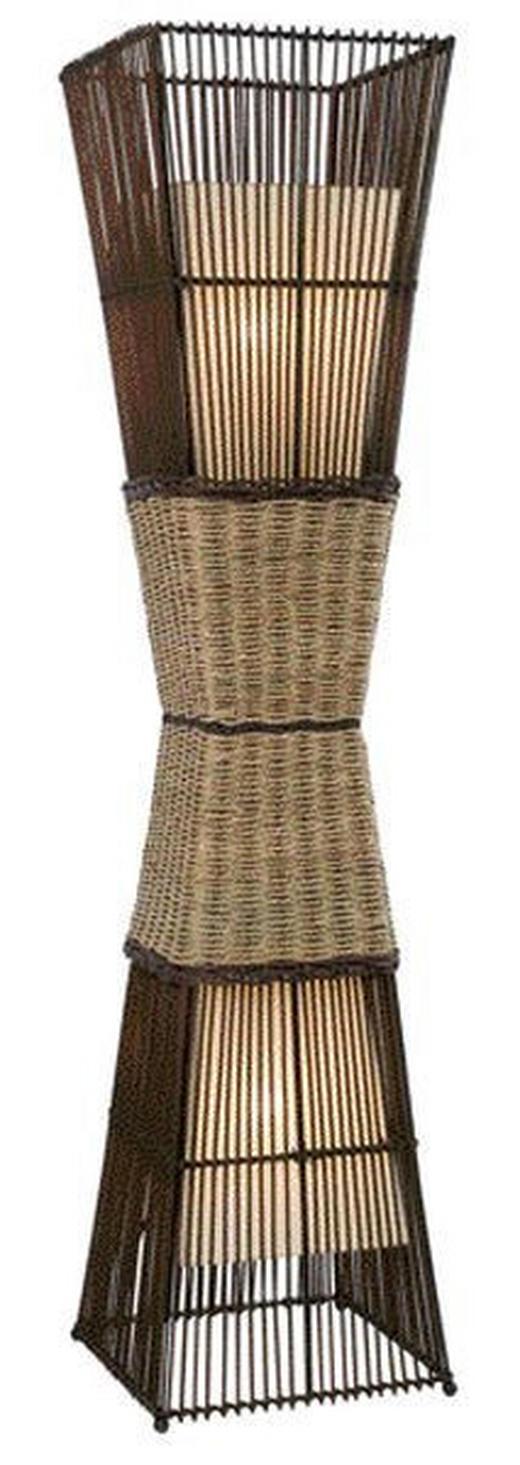STEHLEUCHTE - Creme/Braun, KONVENTIONELL, Textil/Weitere Naturmaterialien (130cm)