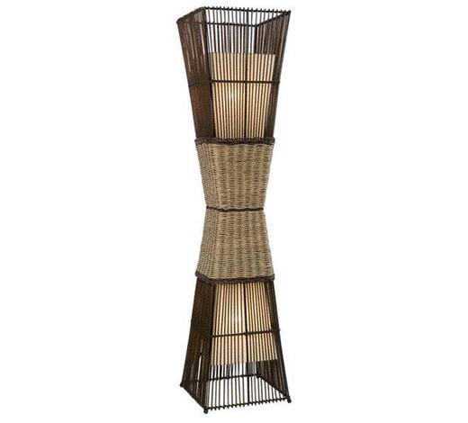 STEHLEUCHTE - Creme/Braun, LIFESTYLE, Textil/Weitere Naturmaterialien (130cm)