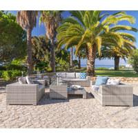 Gartenset - Hellgrau, Design, Glas/Kunststoff (228/58/89cm) - Ambia Garden